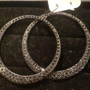 **4/$15 Black Hoop Earrings